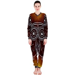 Owl Abstract Funny Pattern OnePiece Jumpsuit (Ladies)