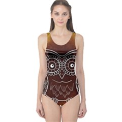 Owl Abstract Funny Pattern One Piece Swimsuit