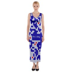 Qr Code Congratulations Fitted Maxi Dress