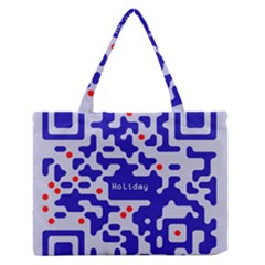 Qr Code Congratulations Medium Zipper Tote Bag