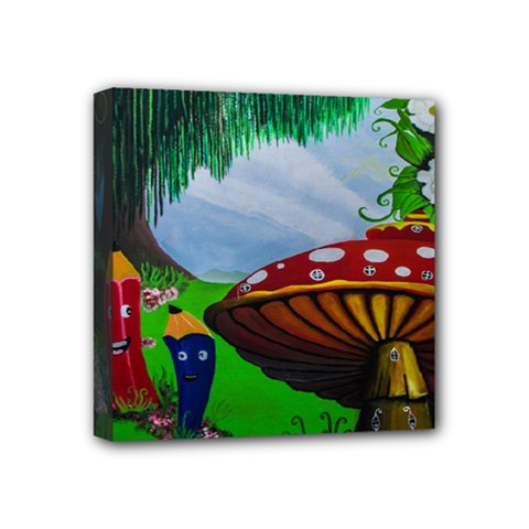 Kindergarten Painting Wall Colorful Mini Canvas 4  x 4