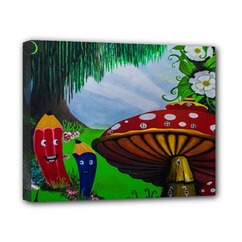 Kindergarten Painting Wall Colorful Canvas 10  x 8