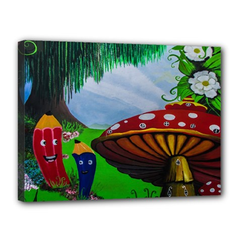 Kindergarten Painting Wall Colorful Canvas 16  x 12
