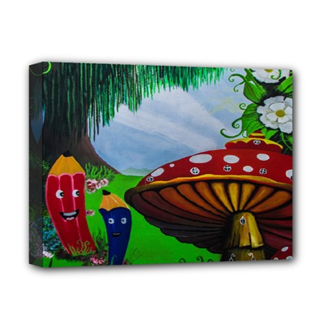 Kindergarten Painting Wall Colorful Deluxe Canvas 16  x 12