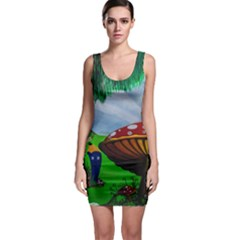 Kindergarten Painting Wall Colorful Sleeveless Bodycon Dress