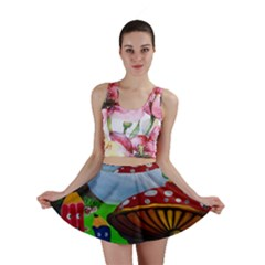 Kindergarten Painting Wall Colorful Mini Skirt