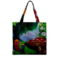 Kindergarten Painting Wall Colorful Zipper Grocery Tote Bag