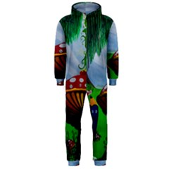 Kindergarten Painting Wall Colorful Hooded Jumpsuit (Men)