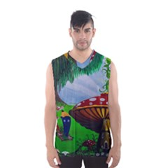 Kindergarten Painting Wall Colorful Men s Basketball Tank Top