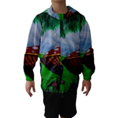 Kindergarten Painting Wall Colorful Hooded Wind Breaker (Kids)