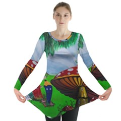 Kindergarten Painting Wall Colorful Long Sleeve Tunic