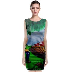 Kindergarten Painting Wall Colorful Classic Sleeveless Midi Dress