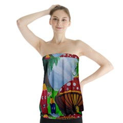 Kindergarten Painting Wall Colorful Strapless Top