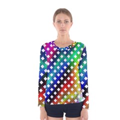 Pattern Template Shiny Women s Long Sleeve Tee