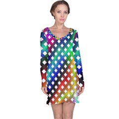 Pattern Template Shiny Long Sleeve Nightdress