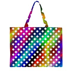 Pattern Template Shiny Large Tote Bag