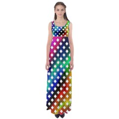 Pattern Template Shiny Empire Waist Maxi Dress