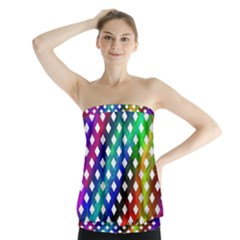 Pattern Template Shiny Strapless Top