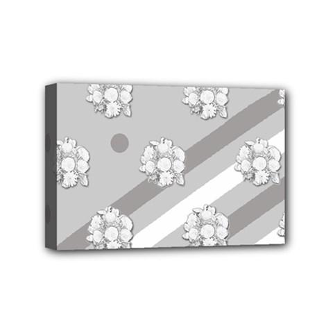 Stripes Pattern Background Design Mini Canvas 6  X 4