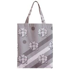 Stripes Pattern Background Design Zipper Classic Tote Bag