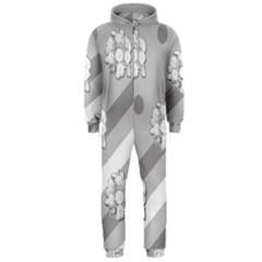 Stripes Pattern Background Design Hooded Jumpsuit (Men)