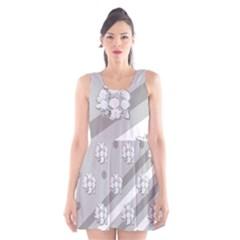 Stripes Pattern Background Design Scoop Neck Skater Dress