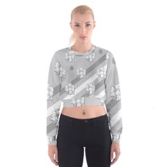 Stripes Pattern Background Design Women s Cropped Sweatshirt