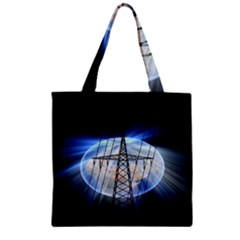 Energy Revolution Current Zipper Grocery Tote Bag