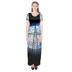 Energy Revolution Current Short Sleeve Maxi Dress