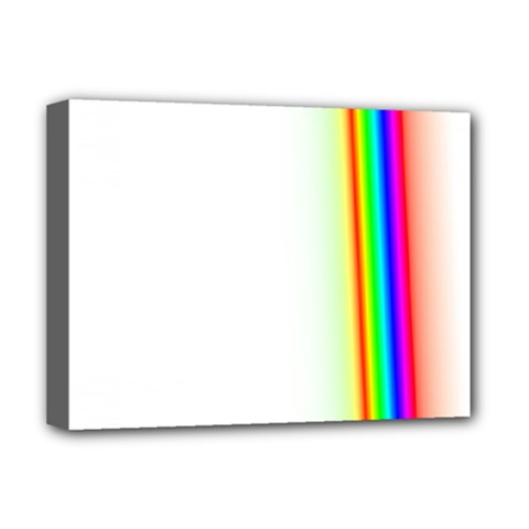 Rainbow Side Background Deluxe Canvas 16  x 12