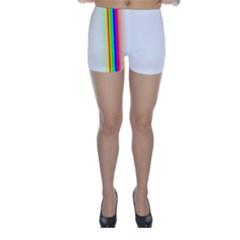 Rainbow Side Background Skinny Shorts