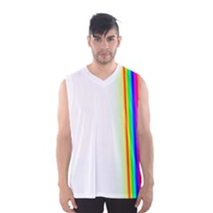 Rainbow Side Background Men s Basketball Tank Top