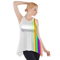 Rainbow Side Background Side Drop Tank Tunic