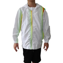 Rainbow Side Background Hooded Wind Breaker (Kids)