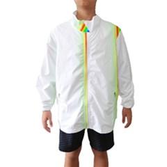 Rainbow Side Background Wind Breaker (Kids)