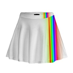 Rainbow Side Background Mini Flare Skirt