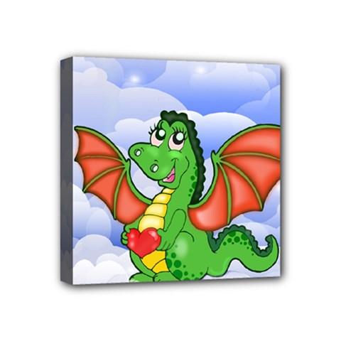 Dragon Heart Kids Love Cute Mini Canvas 4  X 4