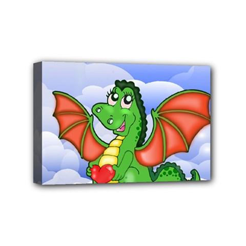 Dragon Heart Kids Love Cute Mini Canvas 6  x 4
