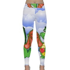 Dragon Heart Kids Love Cute Classic Yoga Leggings