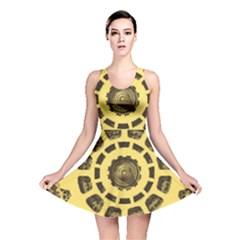 Gears Reversible Skater Dress