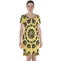 Gears Short Sleeve Nightdress