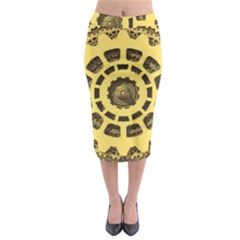 Gears Midi Pencil Skirt