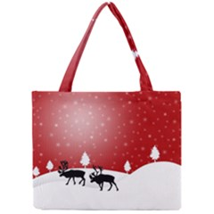 Reindeer In Snow Mini Tote Bag