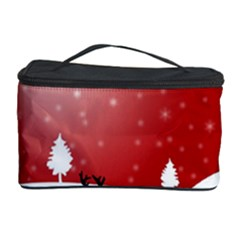 Reindeer In Snow Cosmetic Storage Case
