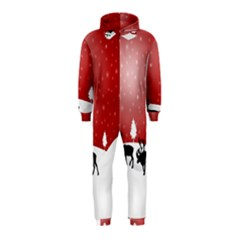 Reindeer In Snow Hooded Jumpsuit (Kids)
