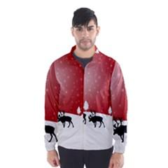 Reindeer In Snow Wind Breaker (Men)