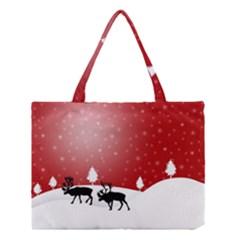 Reindeer In Snow Medium Tote Bag