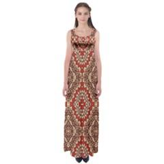 Seamless Carpet Pattern Empire Waist Maxi Dress