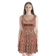 Seamless Carpet Pattern Split Back Mini Dress