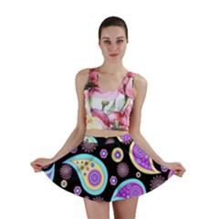 Paisley Pattern Background Colorful Mini Skirt